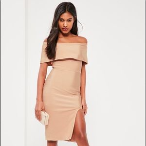 Missguided Bandage bardot midi dress size 4